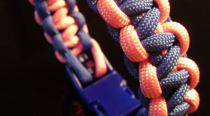 """Dies ist eine Paracord Knoten Anleitung für ein """"Basic Cobra"""" Armband"""